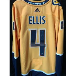 RYAN  ELLIS SIGNED PREDATORS JERSEY (FRAMEWORTH COA)