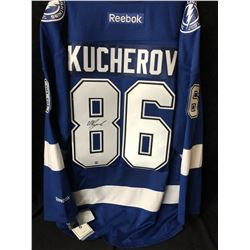 Nikita Kucherov Signed Lightning Jersey (Frameworth COA)