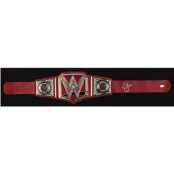 RIC FLAIR SIGNED WWE REPLICA CHAMPIONSHIP BELT (JSA COA)