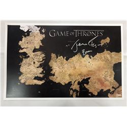 """Jerome Flynn Signed Game of Thrones Westeros Map 24×36 Poster with """"Bronn"""" Inscription"""