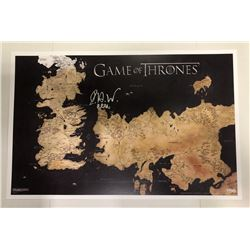 """Isacc Hempstead Wright Signed Game of Thrones Westeros Map 11×17 Photo with """"Bran"""" Inscription"""