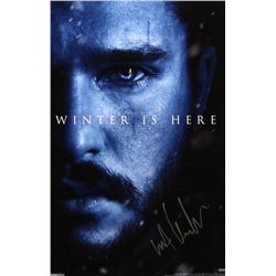 Kit Harington Signed Game of Thrones 11×17 Photo – Winter is Here
