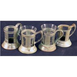 4 Coca-Cola fountain glass holders 1930's