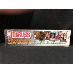 1991 DONRUSS BASEBALL PUZZLE & CARDS BOX