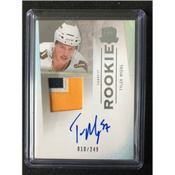 2009-10 THE CUP TYLER MYERS RC #132 PATCH AUTO (010/249)