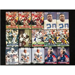 PRO-SET FOOTBALL TRADING CARDS LOT (SOME RC)