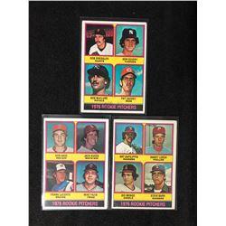 1976 TOPPS BASEBALL ROOKIE CARD LOT