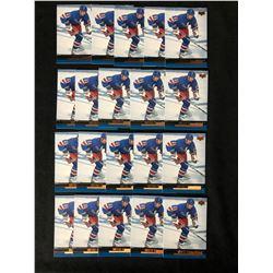 1999 UPPER DECK GLOSSY #86 WAYNE GRETZKY HOCKEY CARD LOT (20 CARDS)