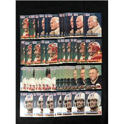 FOOTBALL HALL OF FAMERS TRADING CARD LOT (55 CARDS)