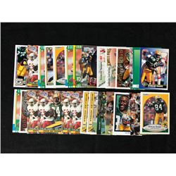 STERLING SHARPE FOOTBALL CARDS LOT (SOME RC)
