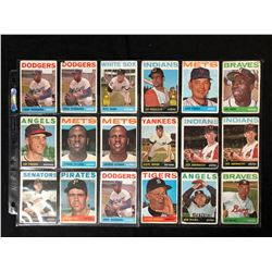 1964 TOPPS BASEBALL CARD LOT