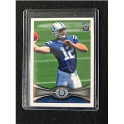 2012 TOPPS #140 ANDREW LUCK FOOTBALL CARD