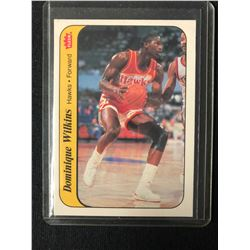 1986 FLEER BASKETBALL STICKER  DOMINIQUE WILKENS (11/11)
