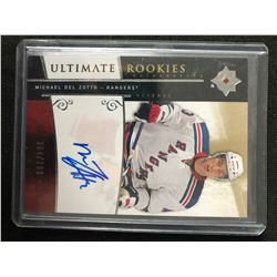 2009-10 UPPER DECK ULTIMATE ROOKIES MICHAEL DEL ZOTTO AUTO CARD