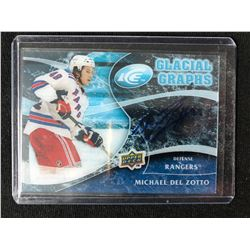 2010 UPPER DECK ICE GLACIAL GRAPHS MICHAEL DEL ZOTTO AUTO CARD