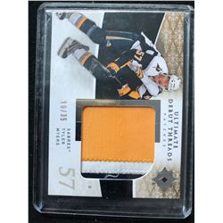 2009-10 UPPER DECK TYLER MYERS ULTIMATE DEBUT THREADS PATCHES HOCKEY CARD (16/35)