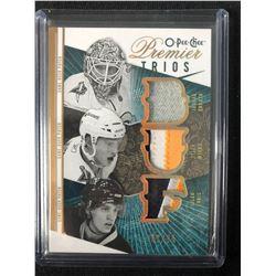 2009-10 O-PEE-CHEE PREMIER TRIOS GAME USED JERSEYS HOCKEY CARD (ENROTH/ MYERS/ ENNIS)