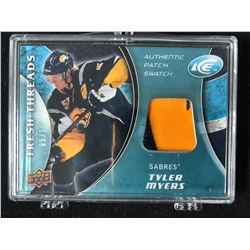 2010 UPPER DECK TYLER MYERS AUTHENTIC PATCH SWATCH (05/15)