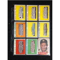 1964 TOPPS BASEBALL TEAM CARD LOT