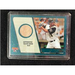 2001 TOPPS DREK BELL GAME USED BAT BASEBALL CARD