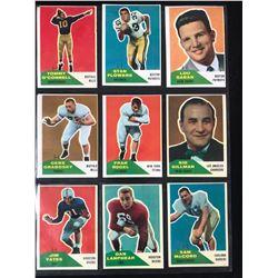 1960 FLEER FOOTBALL CARDS LOT