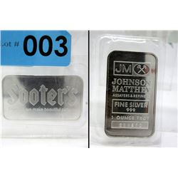 .999 Silver Johnson Matthey Sooter's Camera  Bar