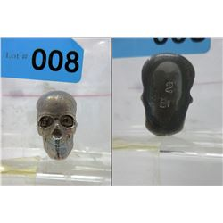 2 oz. .999 Bismuth Bullion Hand Poured 3D Skull Bar