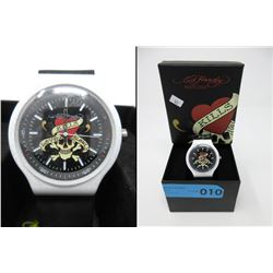 "New in Box Ed Hardy ""Love Kills Slowly"" Watch"