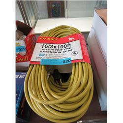 New Pit Bull Heavy Duty 100 Foot Extension Cord