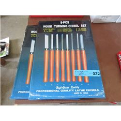 2 New 8 Piece Lathe Chisels Sets