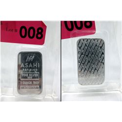 1 Oz .999 Fine Silver Mint Sealed Asahi Bar