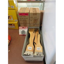 4 Boxes of Steel Strapping & Box 12 BBQ Brushes