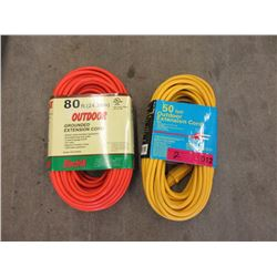 New 80 & 50 Foot Extension Cords