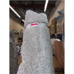 8 x 10 Foot Beige Shag Carpet - Store Return