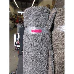 5 x 7 Foot Grey Shag Carpet - Store Return