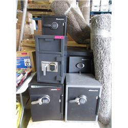 7 Assorted Sentry Safes - No combinations