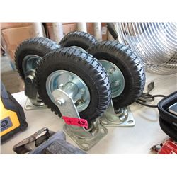 """4 New Casters with 8"""" Wheels"""