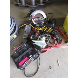 Battery Charger, Jumper Cables and Electric Tools