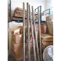 Five 12 Foot Steel Posts