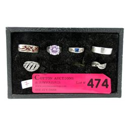 Six Sterling Silver Ring - Variety of Sizes and