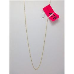 """10KT Gold 20"""" Singapore Link Chain"""