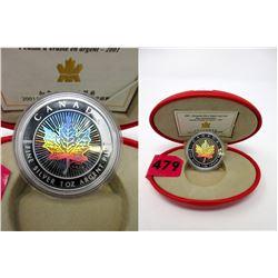 2001 Hologram Silver Maple Leaf $20 Coin