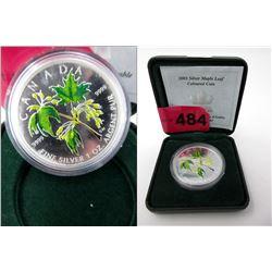 2003 .9999 Fine Silver Maple Leaf Coloured Coin