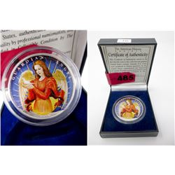 "2002 USA 1 Oz .999 Fine Silver ""Guardian Angel"" Co"