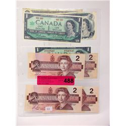 Eight Old Issue Canadian Bank Notes