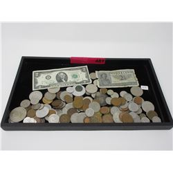 1.5 Pounds of Canadian & World Tokens & Currency