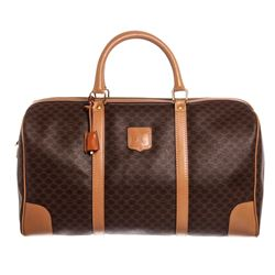 Celine Canvas Leather Macadam Duffle Bag