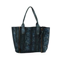 Charcoal Blue Oversized Handbag