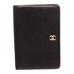 Chanel Black Leather Organizer Wallet