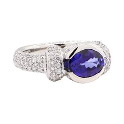 2.73 ctw Sapphire And Diamond Ring - Platinum